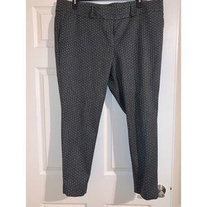 Loft Skinny Ankle Pindot Pants